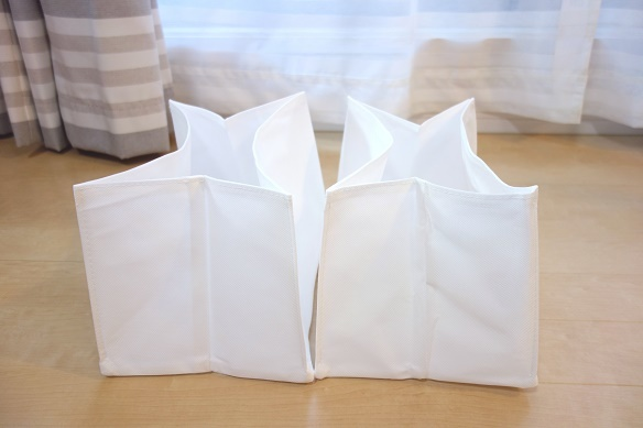 無印・高さが変えられる不織布仕切ケース・大④