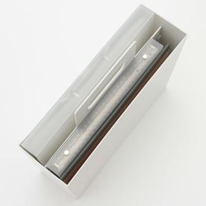 無印・ポリプロピレン持ち手付きファイルボックス・スタンダードタイプ・ホワイトグレー 約幅10×奥行32×高さ28.5cm①