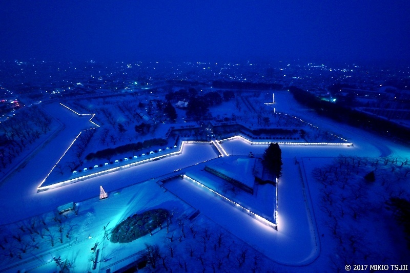 絶景探しの旅 - 0135 青白く輝く北の五芒星 五稜郭 (北海道 函館市)