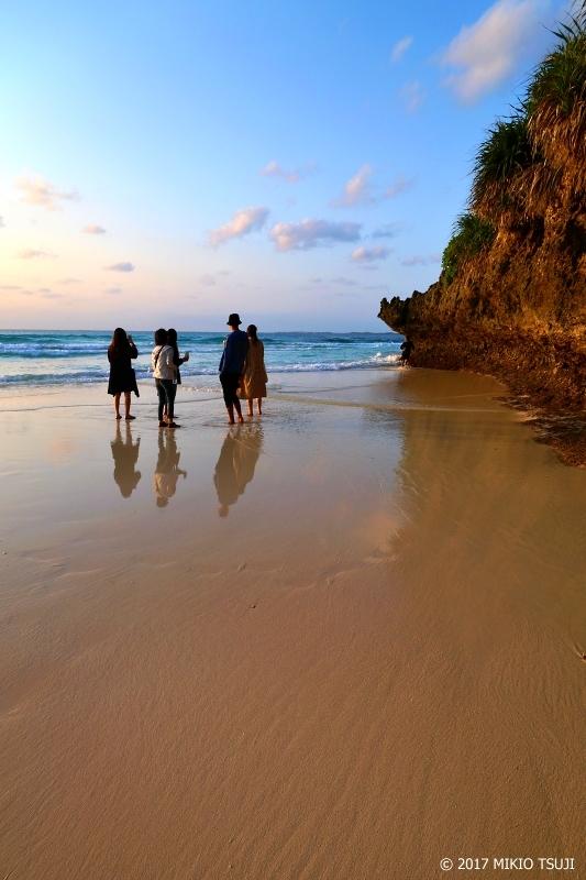 絶景探しの旅 - 0163 満ち潮の鏡の砂浜 (砂山ビーチ/沖縄県 宮古島)