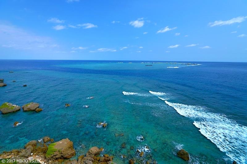 絶景探しの旅 - 0173 海の真ん中にできた青い珊瑚礁サークル (東平安名岬/沖縄県 宮古島市)